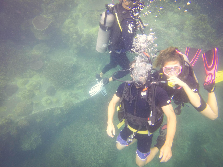 Divers having Fun