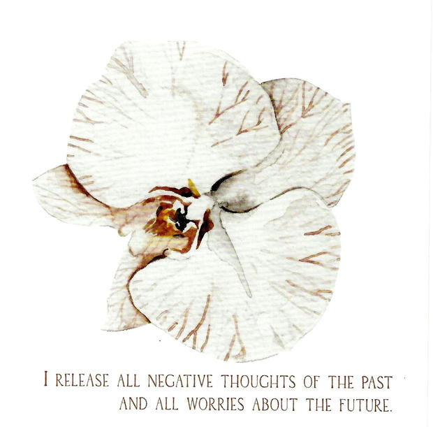 I release all negative thoughts of the past and all worries about the future.