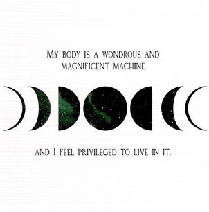 My body is a wonderous and magnificent machine and I feel priveleged to live in it.