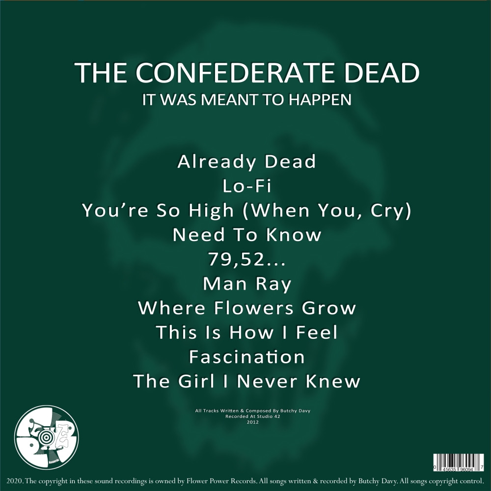 The Confederate Dead - It Was Meant To Happen - Back Cover