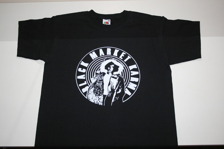 Black Market Karma Black & White T Shirt