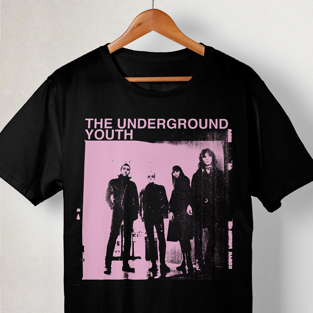 The Underground Youth T Shirt -Pink Imag