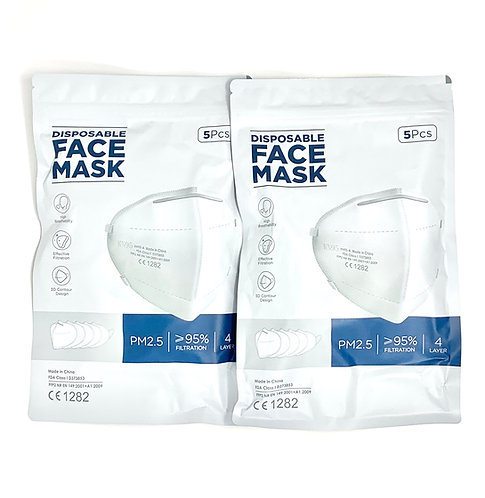 KN95 FACE MASK 5-PACK