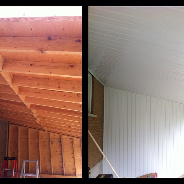 Cleans it up a bit #aluminum #soffit #vinyl #siding #work #sutherlandsaluminum