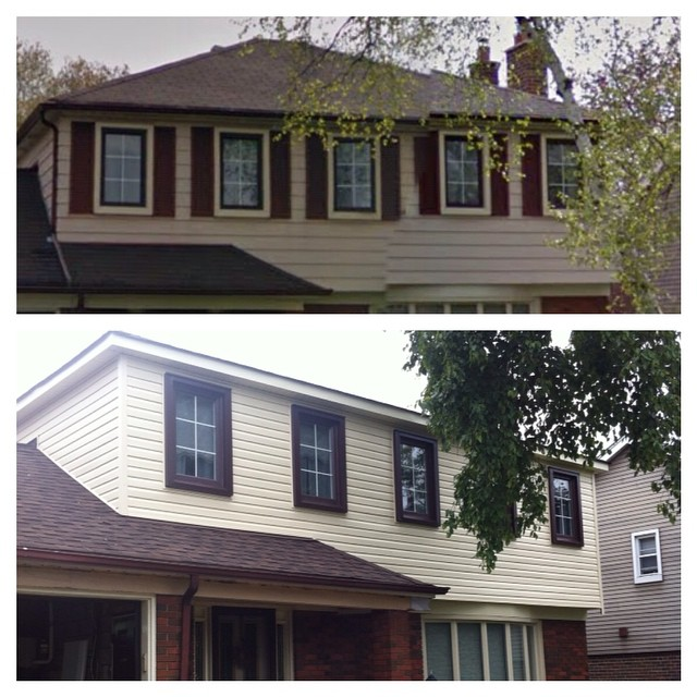 Siding job, customer didn't want to change the colour, which is ridiculous to me but #customersalway