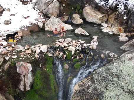 Goldbug Hot Springs - A Beautiful Over Night Camping Adventure on our Winter Hot Springs Tour!