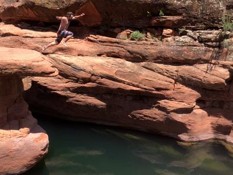The Crack at Wet Beaver Creek - Swimming & Cliff Jumping Outside of Sedona, AZ