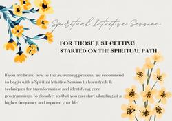 Spiritual Intuitive Session
