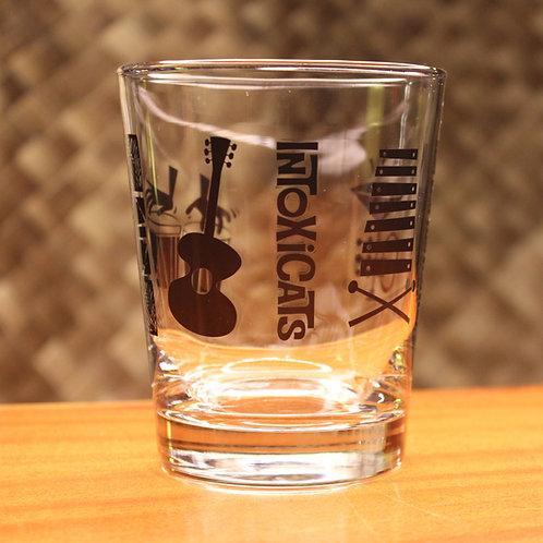Intoxicats 15 oz lowball glass - black