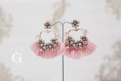 Aretes Florencia en palo rosa