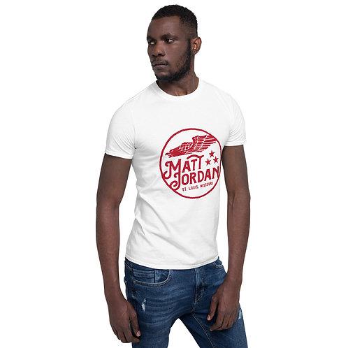 Screaming Eagle on White - Short-Sleeve Unisex T-Shirt