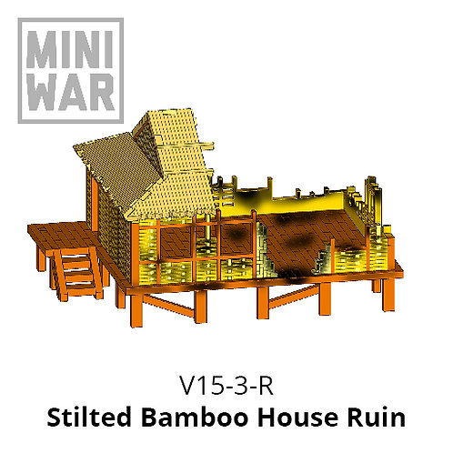 Stilted Bamboo House Ruin
