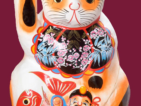 招き猫ミュージアム特別企画展「張り子の招き猫〜養蚕の守り神〜」(愛知瀬戸)