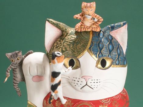 ●加悦雅乃個展「猫たちの神話」(東京谷中)