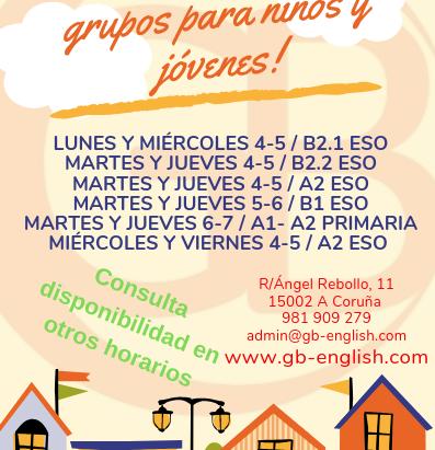 ¡Últimas plazas disponibles en grupos para Primaria y ESO!