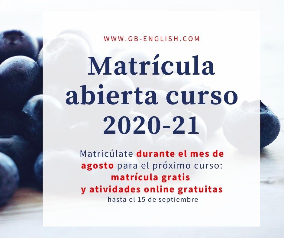 GutBer English abre la matrícula online y presencial para el curso 2020-21