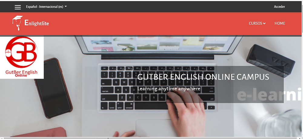 Plataforma virtual de GutBer English