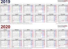 Calendario de días lectivos de inglés de GutBer English Coruña para el curso 2019-20