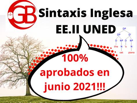 Oooops, you did it again! 100% de aprobados en sintaxis inglesa este curso!