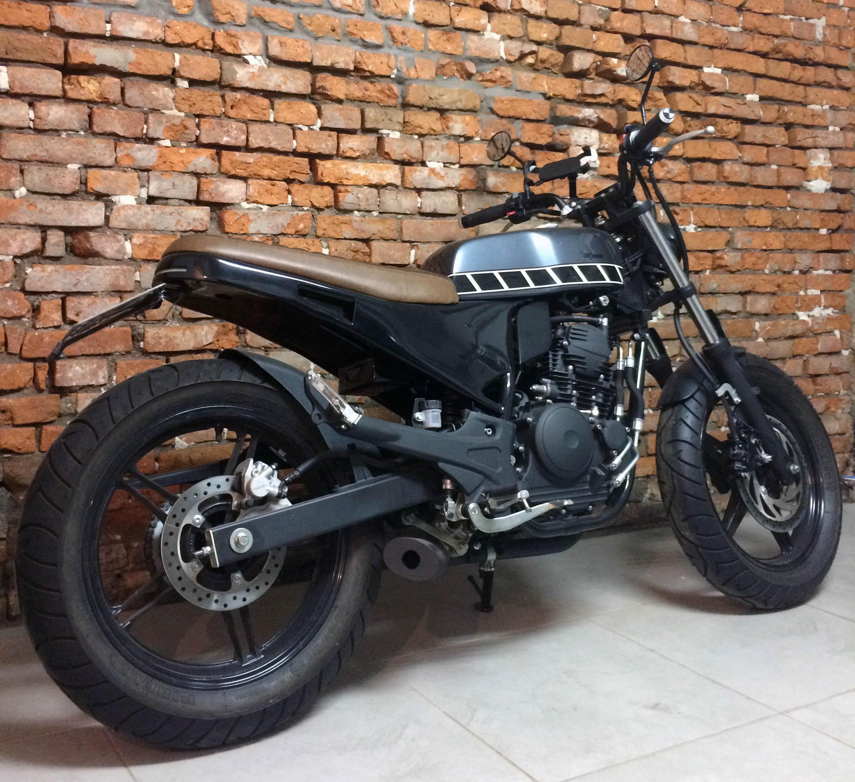 2 geral moto yamaha fazer custom diferen
