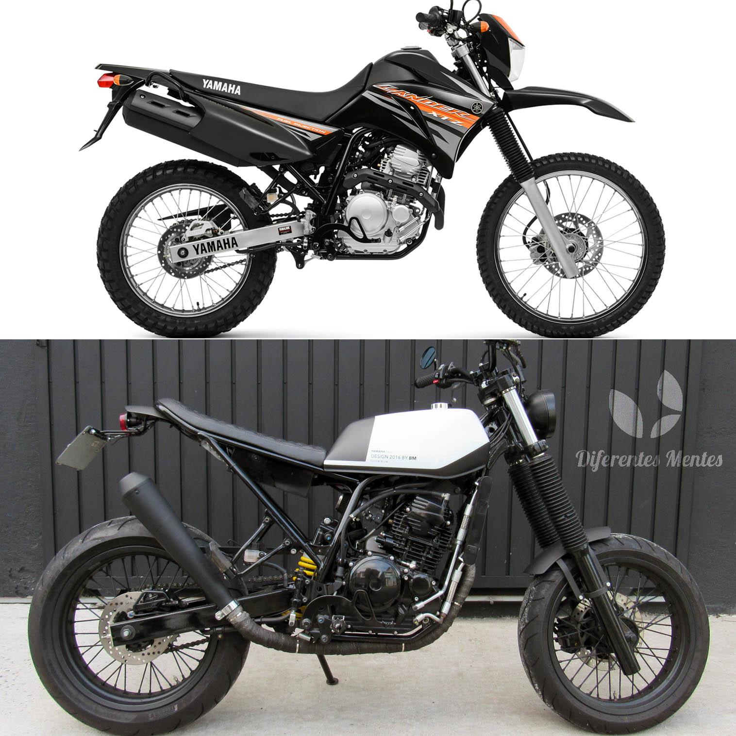 3 geral moto yamaha lander custom difere