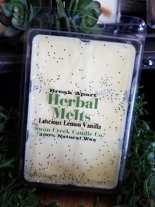 Luscious lemon Vanilla soybean wax melts by Swan Creek...