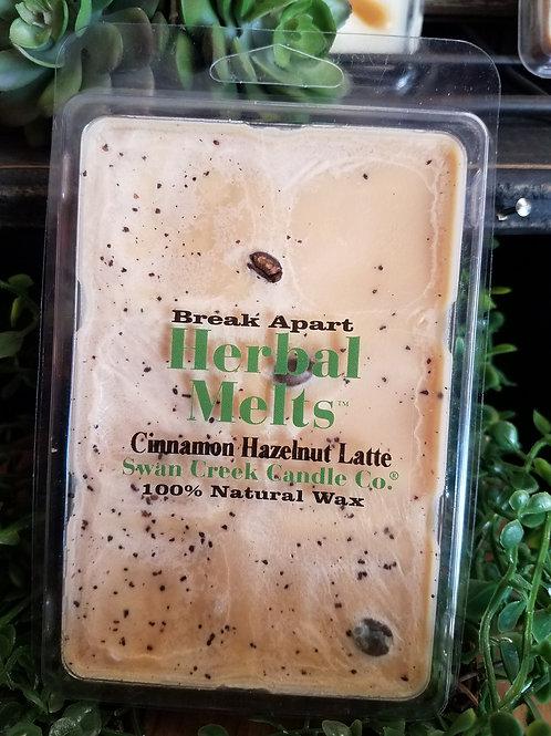 Cinnamon Hazelnut Latte wax melts by Swan Creek...