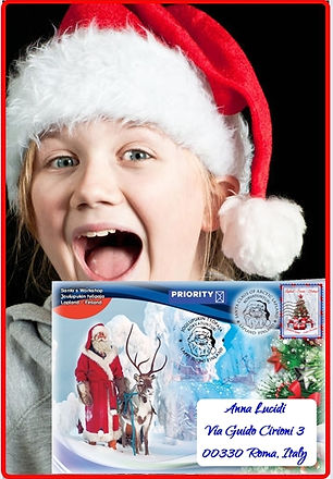 Digital envelope 2020 Santa Girl and env