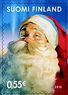 Original finnish christmas special stamp