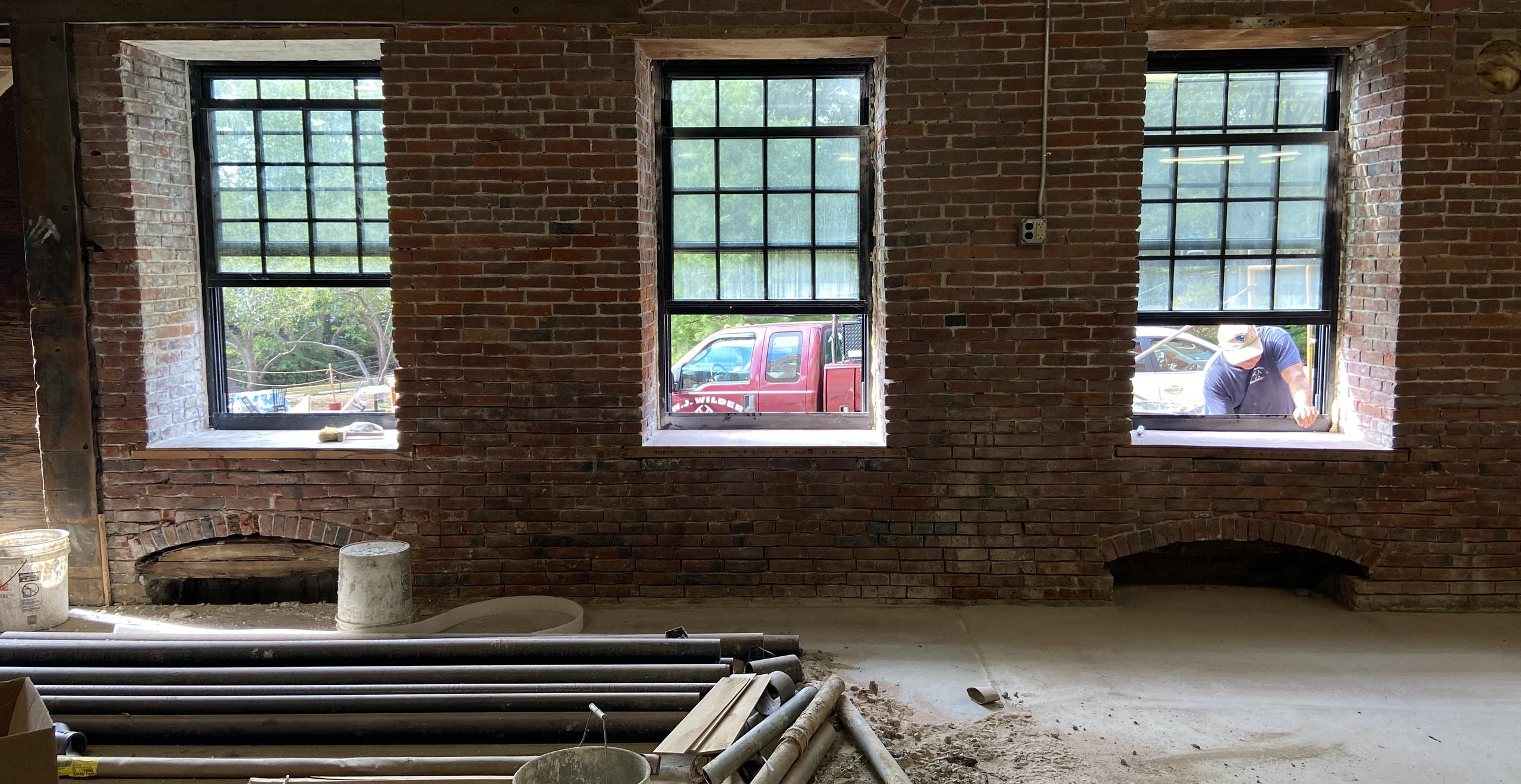 New low-e bronze windows