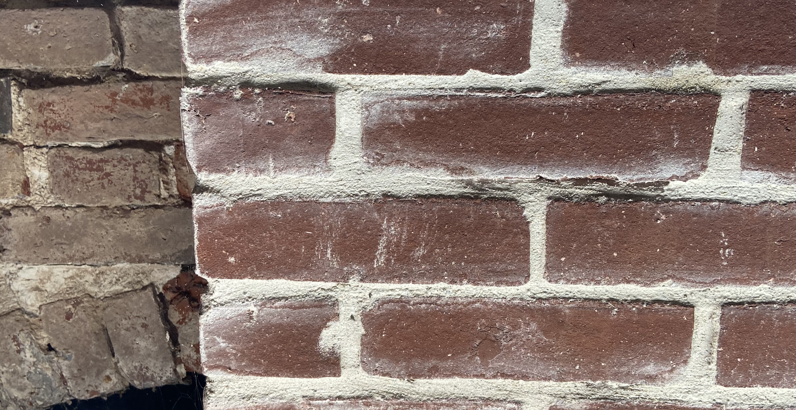 Restoration brick mock-up using historically accurate lime and sand