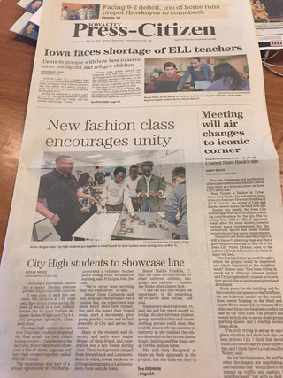 City High students learn the fashion business from local business owner