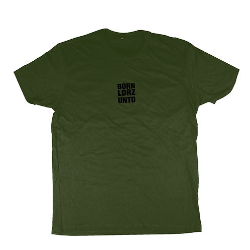 Olive Green & Black BORN LDRZ UNITED Tee