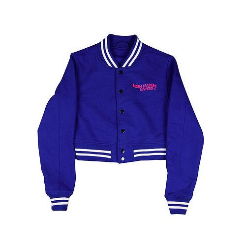 Never Judge Cut Off Jacket Blue