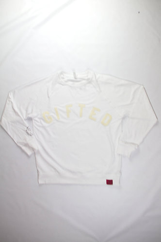 French Terry White Gifted Sweater