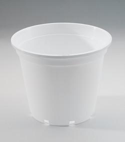 923 White round 23cm pot