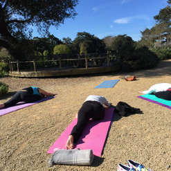 smileitsyoga in new zealand garden