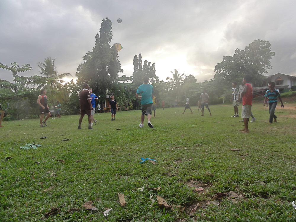 A kick-about in Galle, Sri Lanka