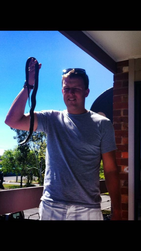 Me (Jack) with a snake!