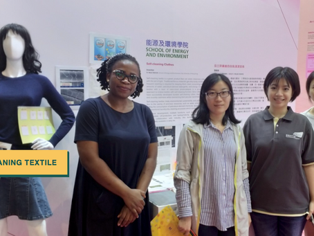 Self-cleaning textile exhibition
