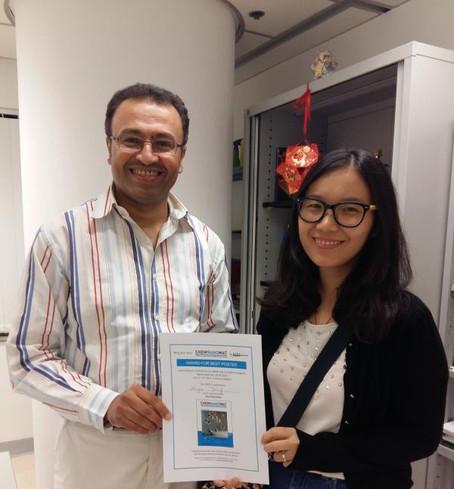 Congrats to Xiya on winning the Best Poster Award in ACIN