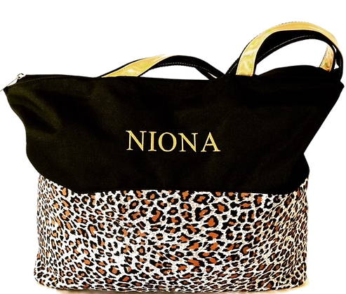 Niona Leopard-Print Tote Bag