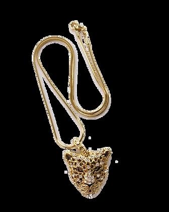 Niona Unisex Swarovski Crystal Jaguar Necklace