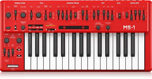 베링거 NEW!! Behringer MS-1-RD Analog Synthesizer with Handgrip - Red 465,000원