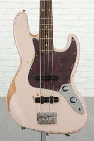 Fender Flea Jazz Bass - Shell Pink,    Road Worn