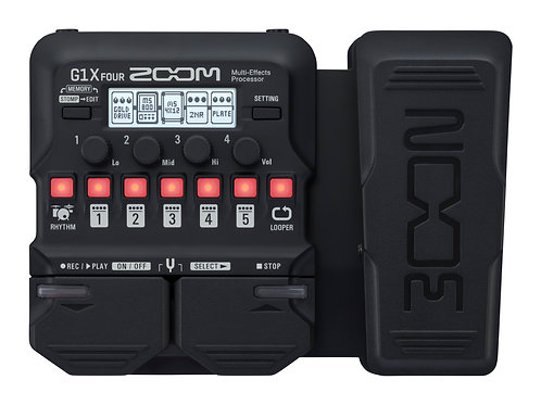 NEW! Zoom G1X FOUR Multi-effects Processor with Expression Pedal
