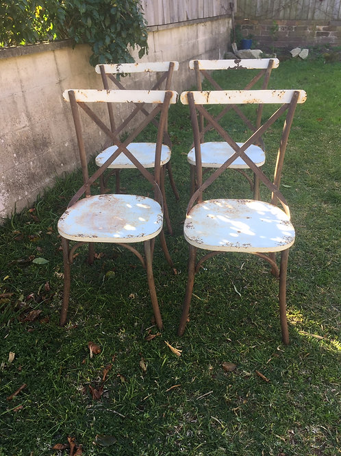SOLD French Provincial Metal Chairs - Set of 4