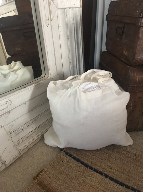 Linen Market Bag - White