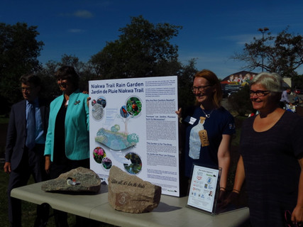 The Rain Garden display at the unveiling