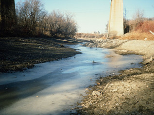Low Water Levels by CN Highline North of Provencher